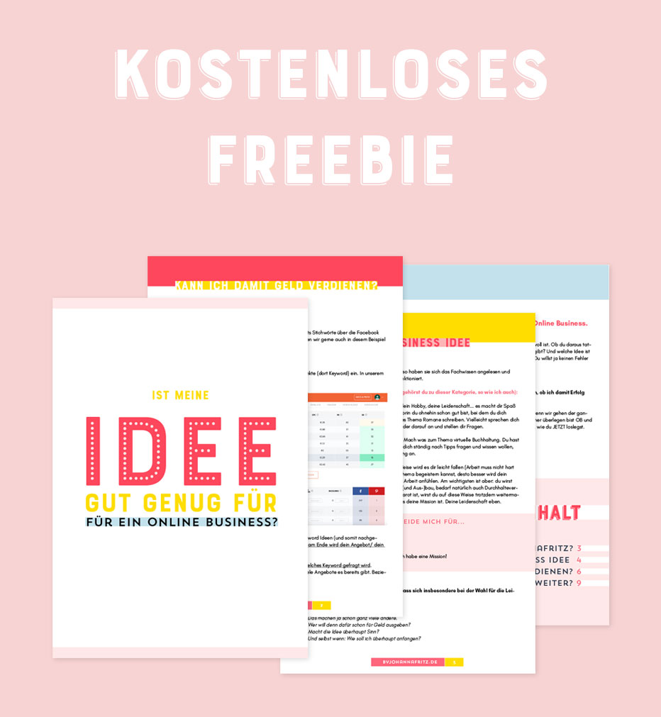 Online Business Idee - Freebie von By Johanna Fritz