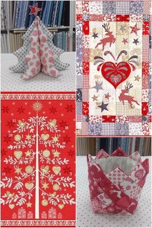 35 créations patchwork de Noël en tissu