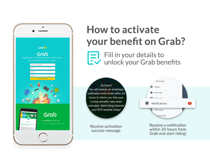 how to active Grab benefit