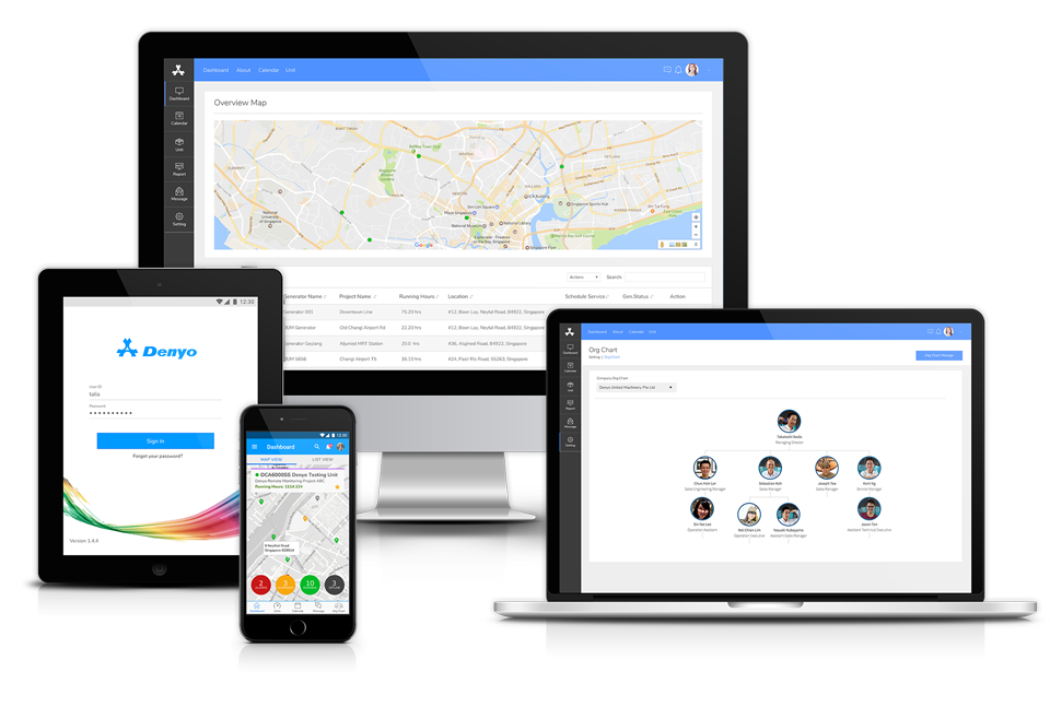 Denyo Smart Remote Monitoring (RMS) on digital platforms