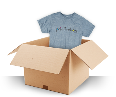 box and t-shirt