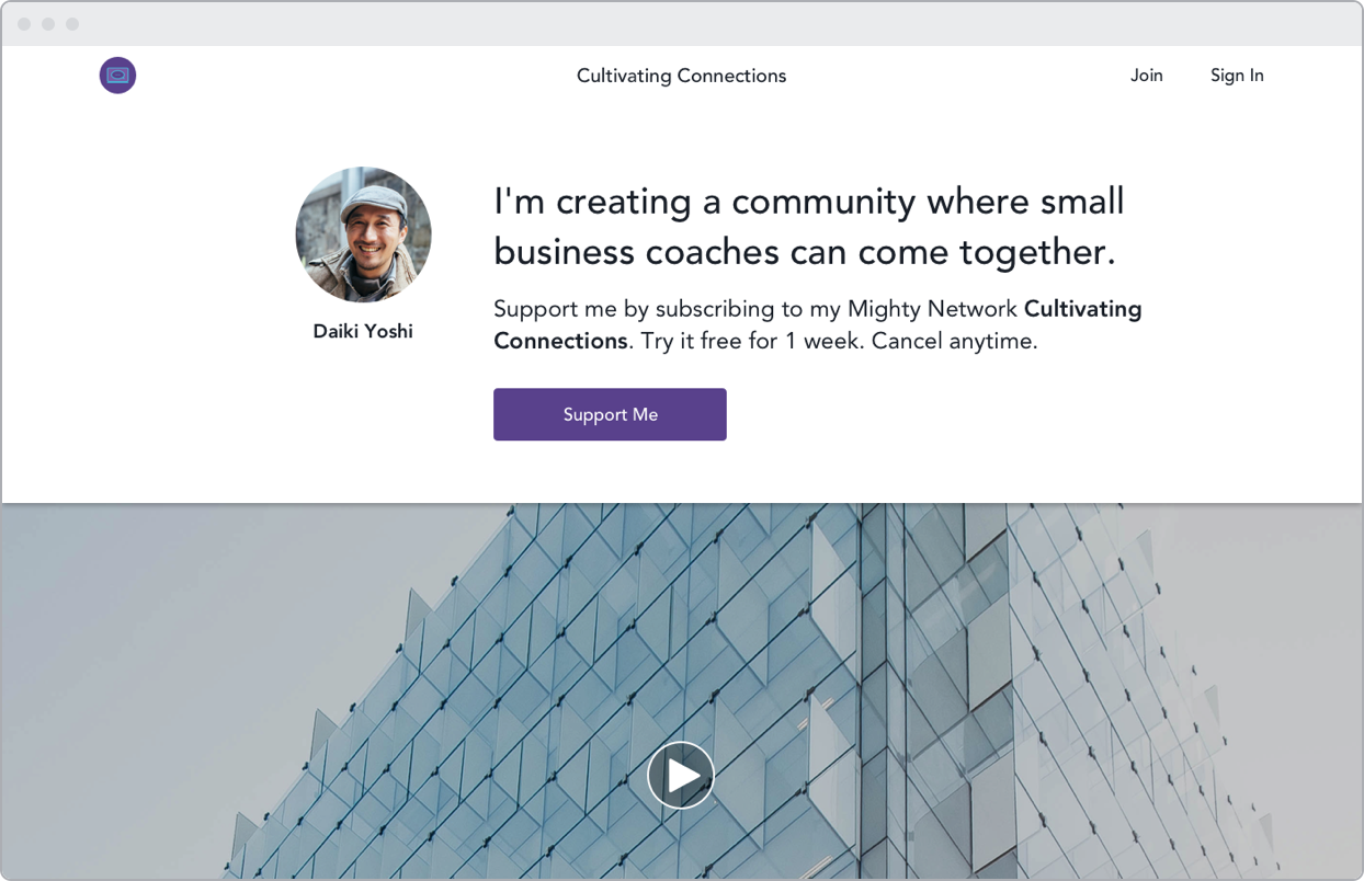 Create a community for professional coaches