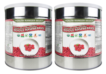 Freeze-Dried 100% Organic Whole Raspberries