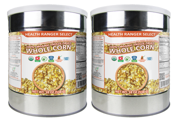 Freeze-Dried 100% Organic Whole Corn