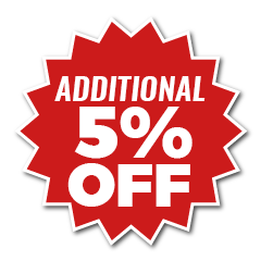 additional 5% off icon