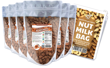 ORGANIC RAW ALMONDX6 WITH NUT MILK BAG