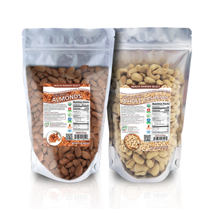 100% Organic Cashews + Organic Raw Almonds Combo Pack