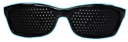 sports style pinhole glasses