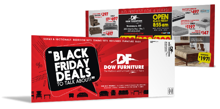 Black Friday Attention Grabber Direct Mail