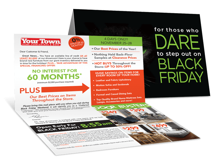 Black Friday Bi-Fold Direct Mailer