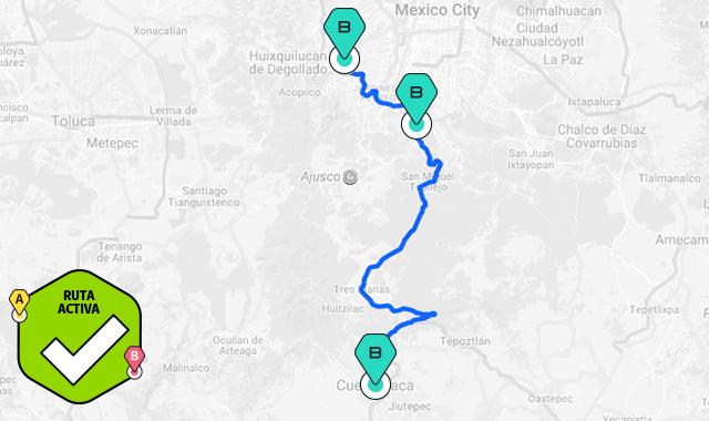 mapa ruta circuito santa fe