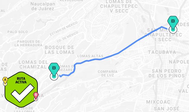 mapa ruta juanacatlan-santafe