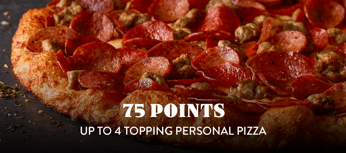 75 pts - Personal Pizza