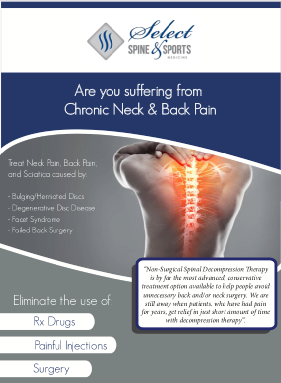 Spinal Decompression, Back Pain, Sciatica, Neck Pain