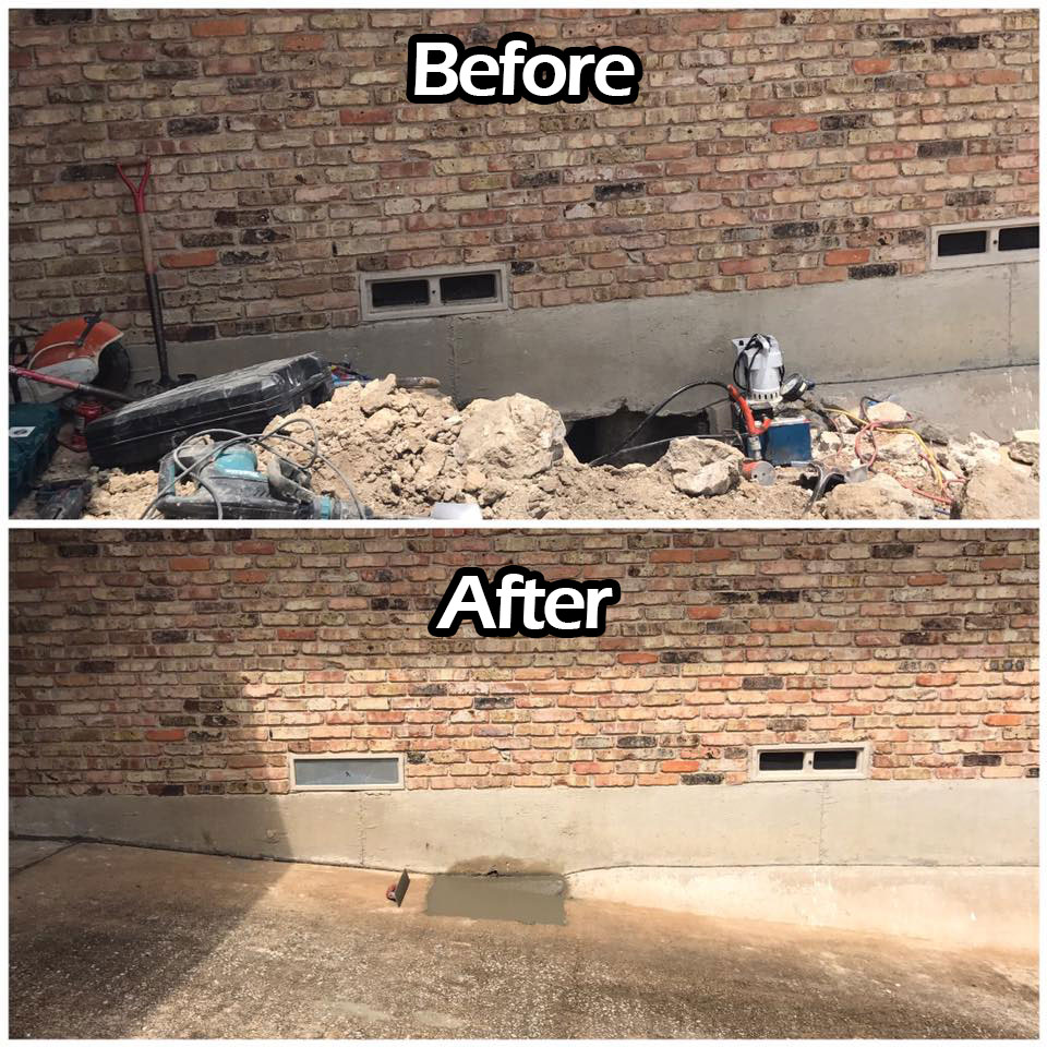 Dallas Foundation Repair Residential Best Company Services Near Me TX Before After
