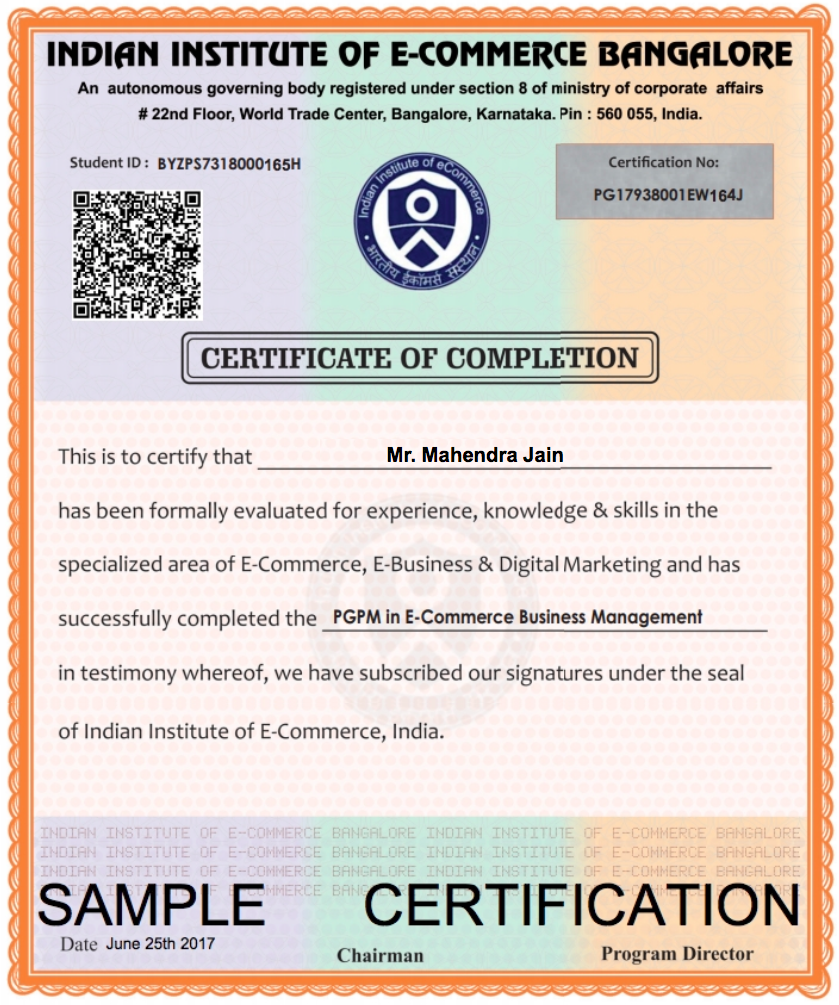 Certified E Commerce Global Trade Professional Indian