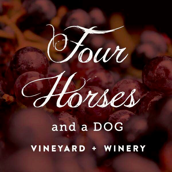 Four Horses and a Dog Winery Logo