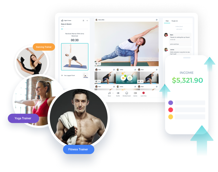 Earn more with WorkoutParty! as a Trainer