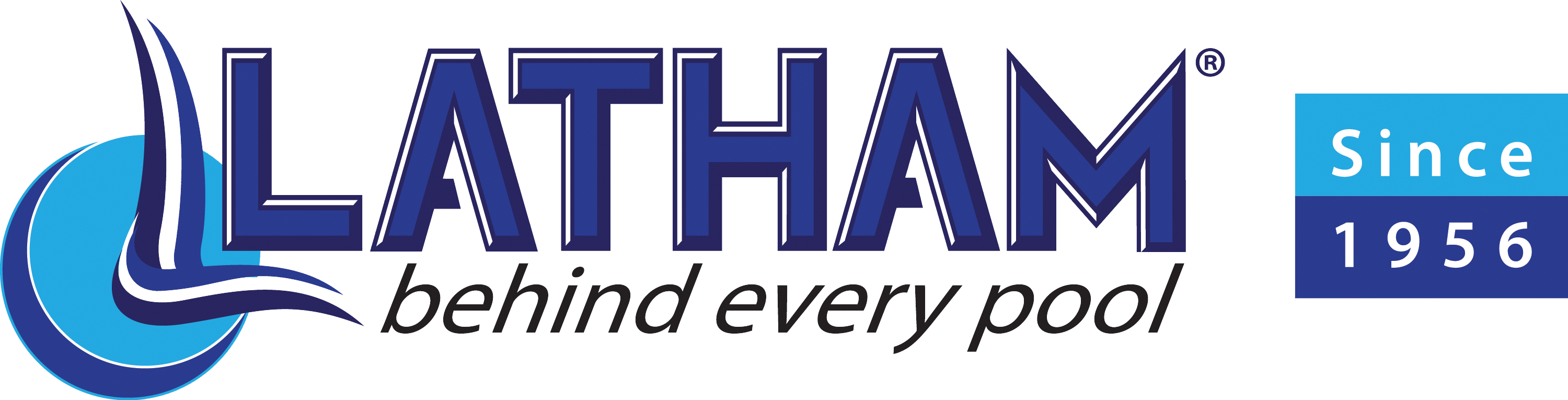 Latham behind every pool since 1956 logo