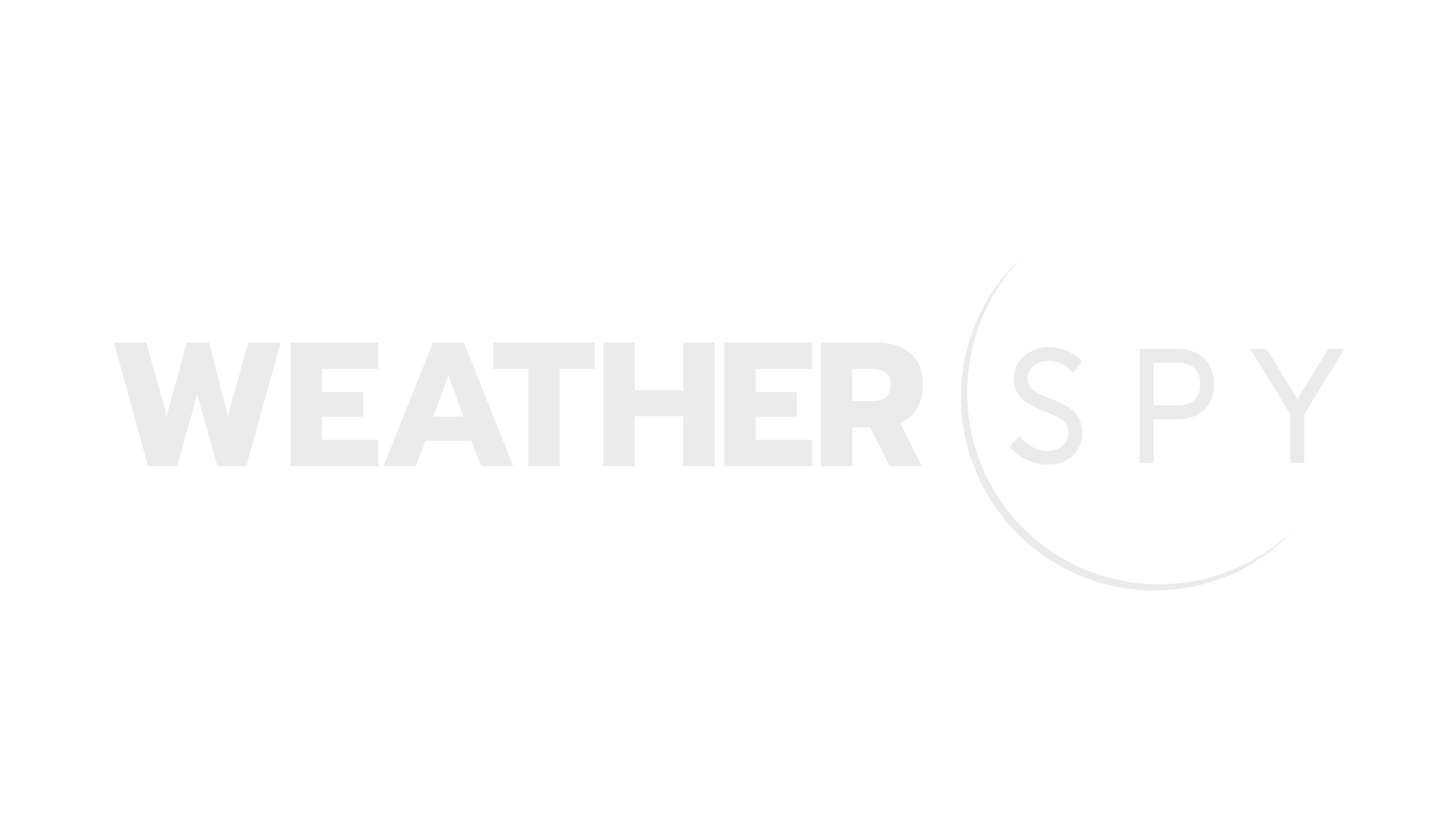 WeatherSpy logo white with transparent background