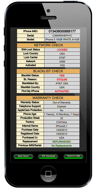 iPhone IMEI Check report - IMEI Check results.png