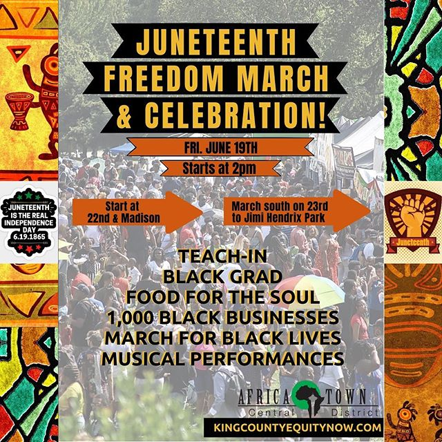 Juneteenth March Flyer