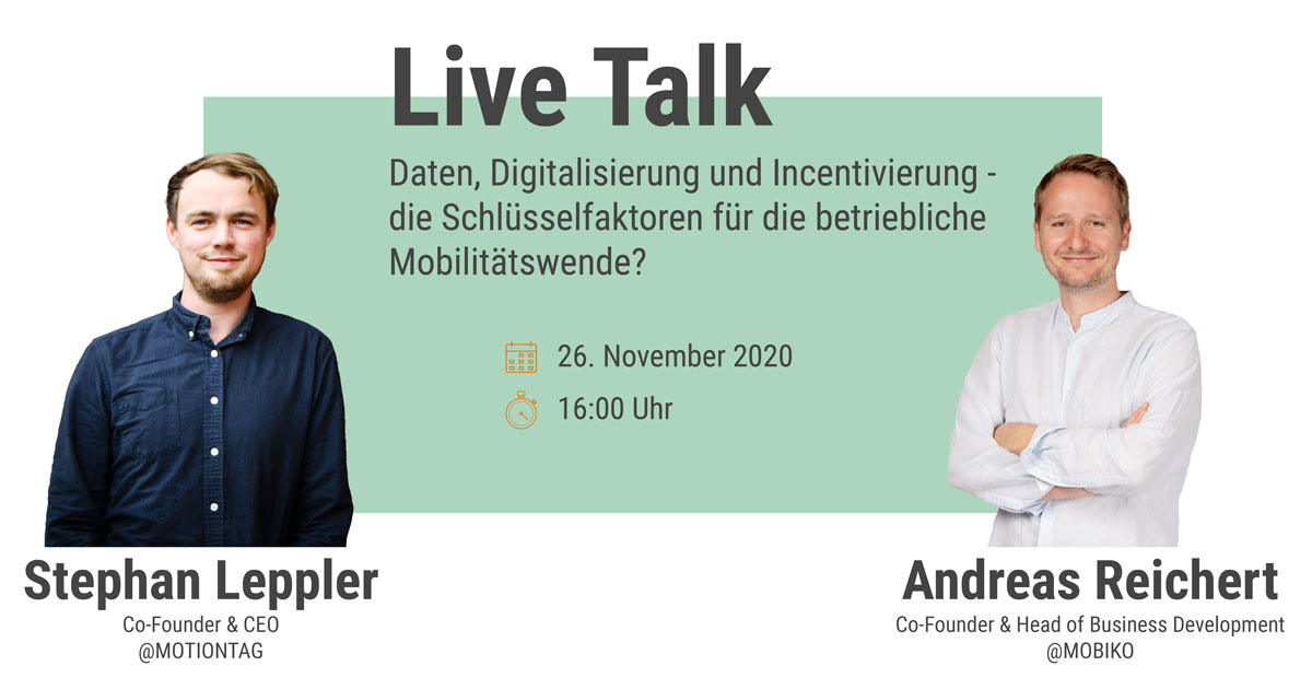 Digital Live Talk mit MOTIONTAG