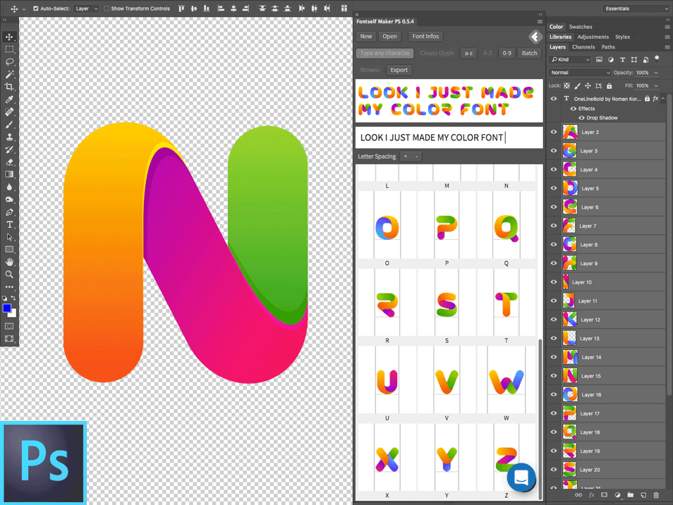 Fontself - Make fonts in Photoshop & Illustrator