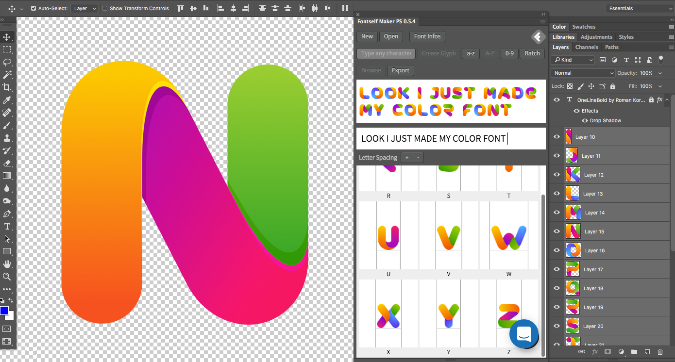 Fontself Make Your Own Fonts In Illustrator Or Photoshop