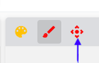Select the navigator arrows to move around the picture taken