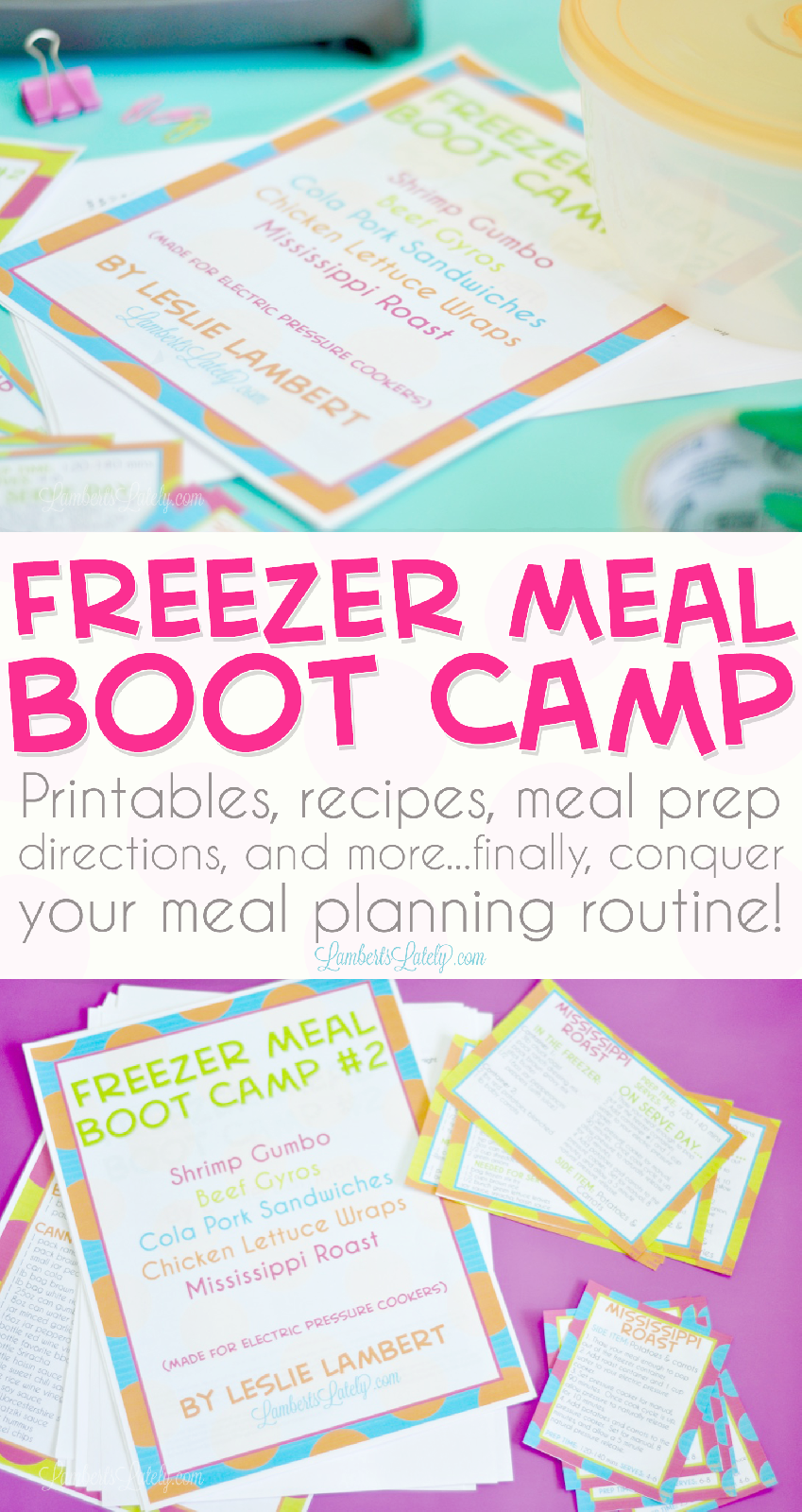 Freezer Meal Boot Camp - Make Ahead Easy Meals with ...